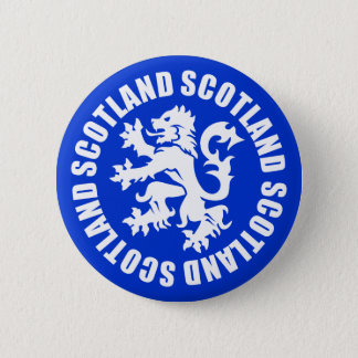 Scotland Rampant Lion Symbol Button