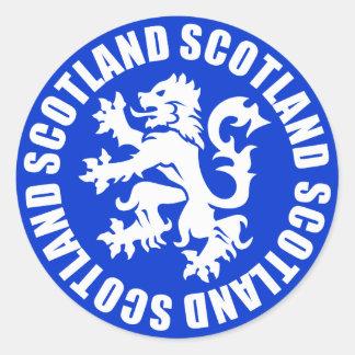Scotland Rampant Lion Symbol Classic Round Sticker