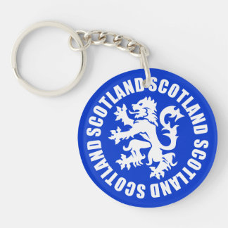 Scotland Rampant Lion Symbol Keychain