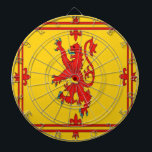 """Scotland red lion rampant Flag Dartboard<br><div class=""""desc"""">Scotland red lion rampant Flag . Image used on this item are licensed and  &#169; Graphics Factory.com</div>"""