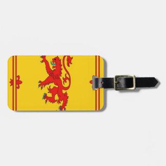 Scotland red lion rampant Flag Luggage Tag