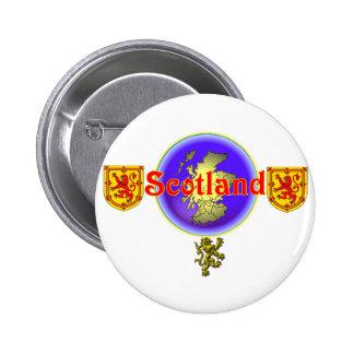 Scotland.:- rojos) pin redondo de 2 pulgadas