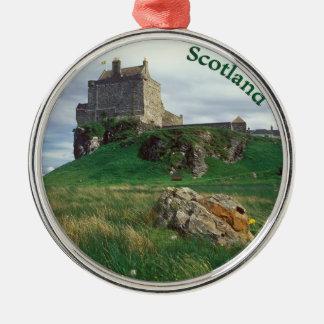 Scotland Round Metal Christmas Ornament
