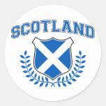 Scotland Round Stickers