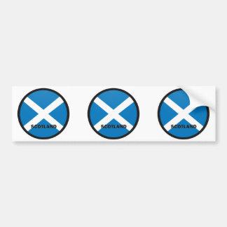 Scotland Roundel quality Flag Bumper Sticker
