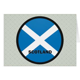 Scotland Roundel quality Flag Greeting Card