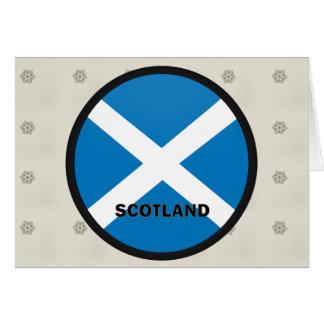 Scotland Roundel quality Flag Greeting Cards