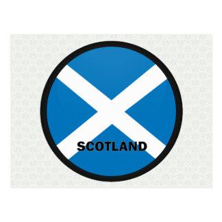 Scotland Roundel quality Flag Postcard