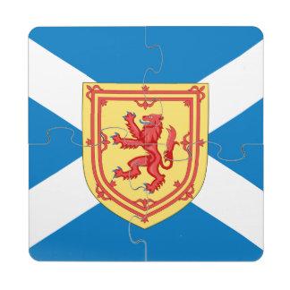 Scotland Royal Arms and Flag Puzzle Coaster