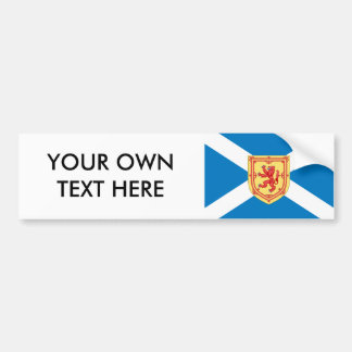 Scotland Royal Arms Flag Pattern Bumper Sticker