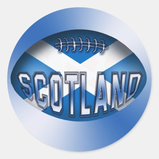 Scotland Rugby Ball Classic Round Sticker