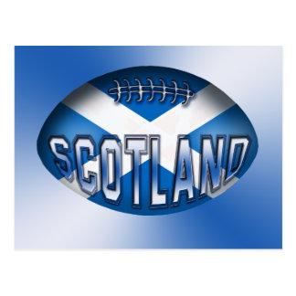 Scotland Rugby Ball Postcard