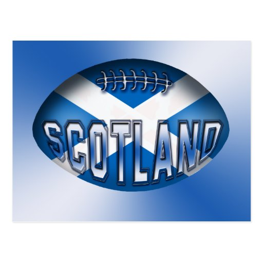 Scotland Rugby Ball Postcards
