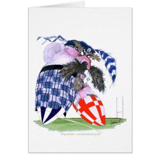 scotland rugby ball, tony fernandes card
