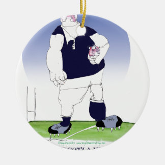 scotland rugby player, tony fernandes ceramic ornament