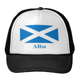 Scotland Saint Andrew Flag with Name in Gaelic Trucker Hat