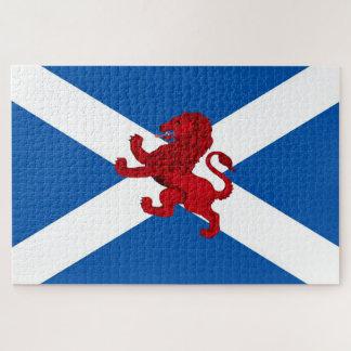 Scotland Saint Andrew's flag/Rampant Lion 1014 Jigsaw Puzzle