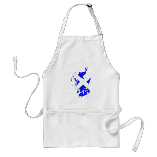 Scotland Saltire Map Adult Apron