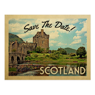 Scotland Save The Date Eilean Donan Castle Postcard
