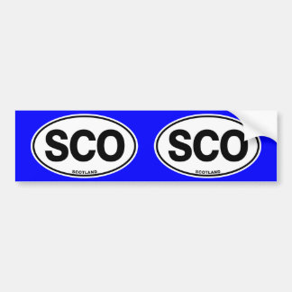 Scotland SCO Oval ID Identification Code Initials Bumper Sticker