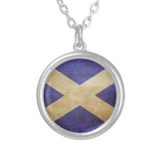 Scotland, Scotland, Scotland Round Pendant Necklace