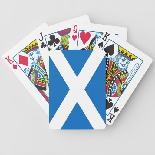 Scotland/Scottish Flag Bicycle Playing Cards