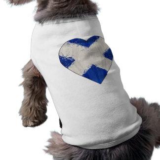 Scotland Scottish Flag Doggie T Shirt