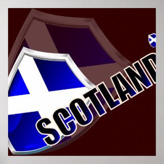 Scotland Shield X2 Posters