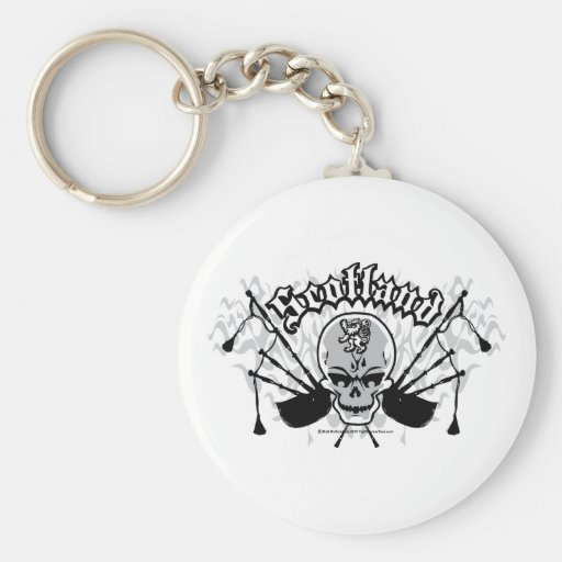 Scotland Skill and Pipes Basic Round Button Keychain