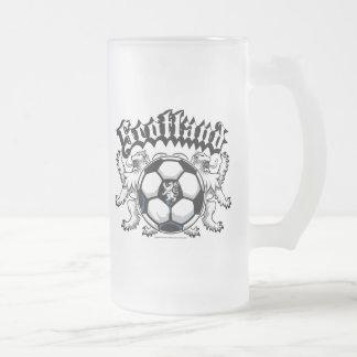 Scotland Soccer 16 Oz Frosted Glass Beer Mug