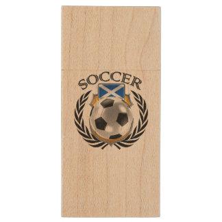 Scotland Soccer 2016 Fan Gear Wood USB Flash Drive