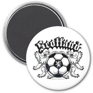 Scotland Soccer 3 Inch Round Magnet