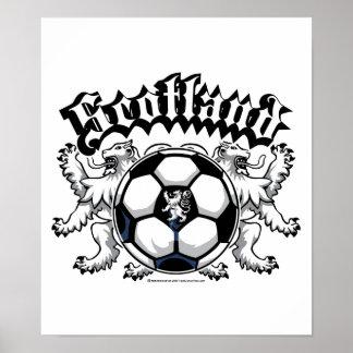 Scotland Soccer Poster
