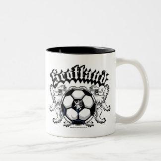 Scotland Soccer Two-Tone Coffee Mug
