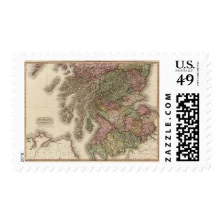 Scotland, southern part stamp