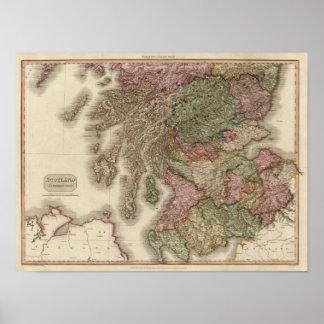 Scotland, southern part poster