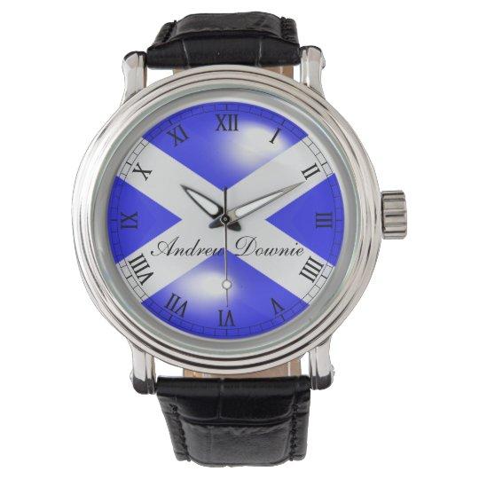 Scotland St Andrews Saltire Cabochon effect .. Wrist Watch