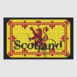 Scotland Standard Flag Rectangle Stickers
