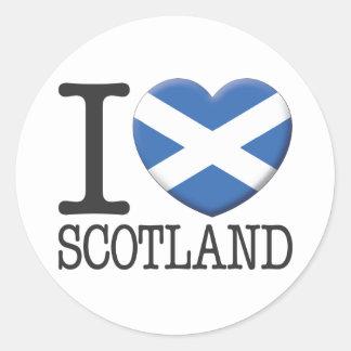 Scotland Round Sticker
