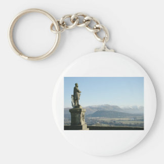 Scotland Stirling King Robert the Bruce Basic Round Button Keychain