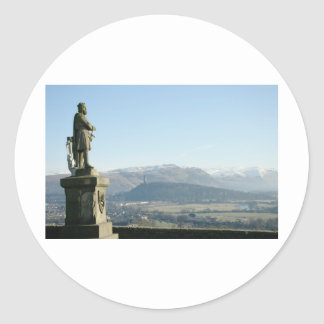 Scotland Stirling King Robert the Bruce Classic Round Sticker