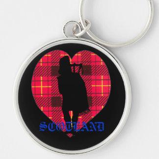 Scotland Tartan Heart Key Chain