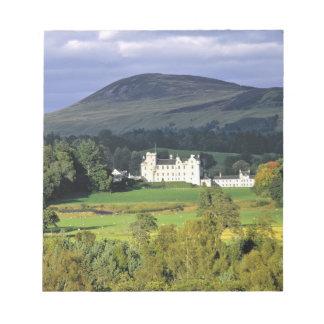 Scotland, Tayside, Blair Castle. In an emerald Notepad