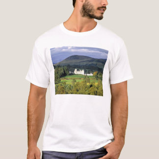Scotland, Tayside, Blair Castle. In an emerald T-Shirt