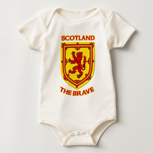Scotland the Brave and Coat of Arms Baby Bodysuit