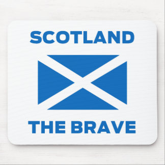 """Scotland the Brave"" Scottish Flag Mousemat Mouse Pad"