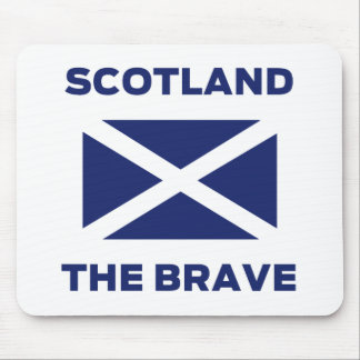 Scotland the Brave - Scottish Flag Mousemat Mouse Pad