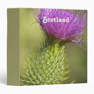 Scotland Thistle Vinyl Binder