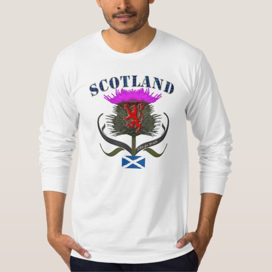 Scotland thistle lion and saltire flag design T-Shirt
