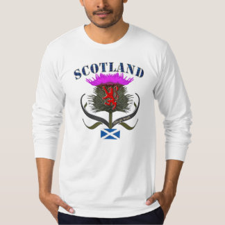 Scotland thistle lion and saltire flag design tee shirt